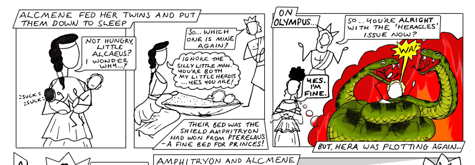 Greek Myth Comix Heracles part 4 page 2 slice 1